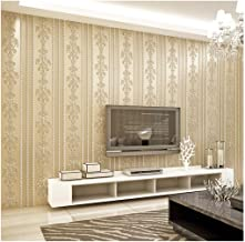 HIZLJJ Wallpaper Contact paper Brick wallpaper removable wallpaper Extra-thick Non-woven Modern Leaf Flow Embossed Texture...