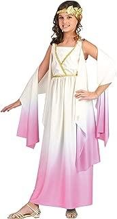 Halloween Costumes for Girls - Kids Roman Greek Goddess Size 8-10 Costume - Girls Athena Party Toga Costume Off-White