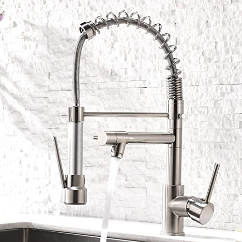 lowest AIMADI Contemporary lowest Kitchen Sink Faucet,Single Handle Stainless Steel Kitchen Faucets with Pull Down Sprayer,Brushed lowest Nickel online sale