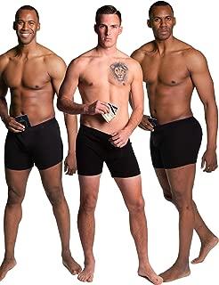 Stashitware Hide Your Stash Boxer Briefs, Mens Underwear Secret Pocket 3 Pack