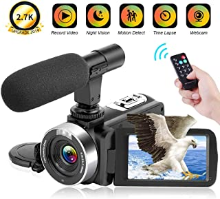 Videocámara 2.7K Videocámara 30FPS 30MP Ultra HD 16X Cámara digital con zoom Pantalla táctil de 3.0 pulgadas Cámara de videograbación de visión nocturna por infrarrojos para YouTube con grabadora de cámara web remota y micrófono (V9)