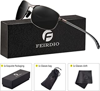 Rectangular Sport Polarized Sunglasses for Men - Feirdio...