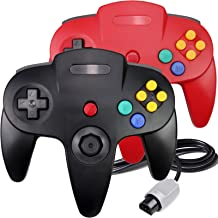 $23 » 2 Packs N64 Controller, King Smart Wired N64 Controllers with Upgraded Joystick for Original Nintendo 64 Console (Black an...