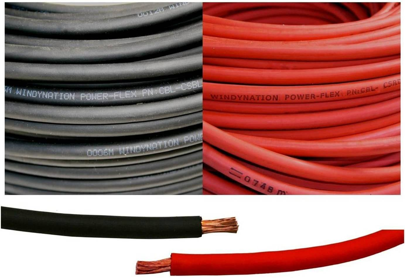 6 Gauge AWG 20 Feet Black Battery C Pure Red + Welding Free Shipping 100% quality warranty! New