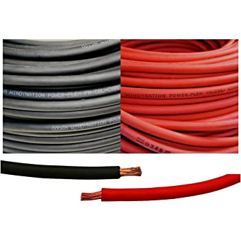 1//0 Gauge Crimp Supply Ultra-Flexible Car Battery//Welding Cable 20 Feet Black and 5 Copper Lugs