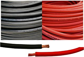 8 Gauge 8 AWG 25 Feet Black + 25 Feet Red Welding Battery Pure Copper Flexible Cable Wire -- Car, Inverter, RV, Solar