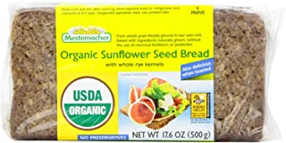 Mestemacher Bread, Organic Sunflower Seed, 17.6-Ounce (Pack of 4)