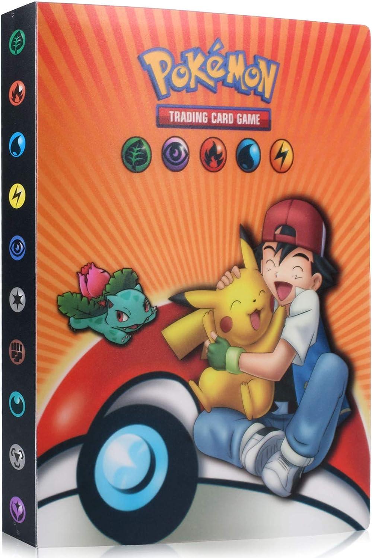 Pokemon Carte Album Album di Ccarte da Collezione Porta Carte Album Cartella Raccoglitore Libro 30 Pagine 240 capacit/à di Carte Raccoglitore Porta Carte Pokemon
