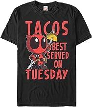 Marvel Men's Deadpool Taco Tuesday T-Shirt