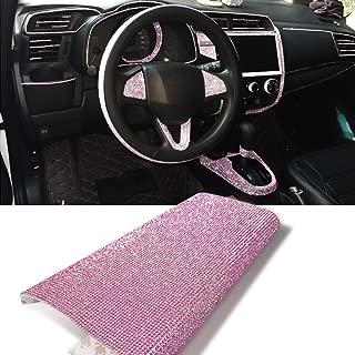 YGMONER 9000pcs Bling Crystal Rhinestone 9.4 x 7.9'' DIY Car Decoration Sticker (Purple)