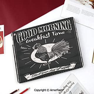 Kitchen Decor Samsung Galaxy Tab A 8.0 Case (2015 Old Model) - Standing Cover Folio Case,Chalkboard Kitchenware Menu Art Morning Rooster Retro Style Cafe Home Design Utensils