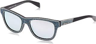 Acetate Frame Grey Lens Unisex Sunglasses DL01115286C