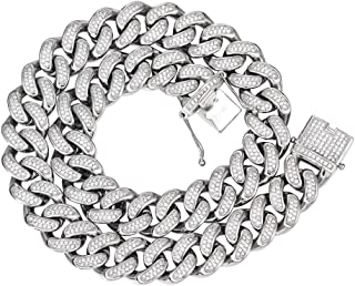 Best mens stainless steel and diamond bracelets Reviews