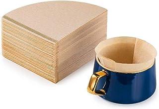100 Pcs Filtres à Café en Papier Coniques Filtre Papier V60 Capsules Cafetière Filtres Papier Naturel Non Blanchis Jetable...