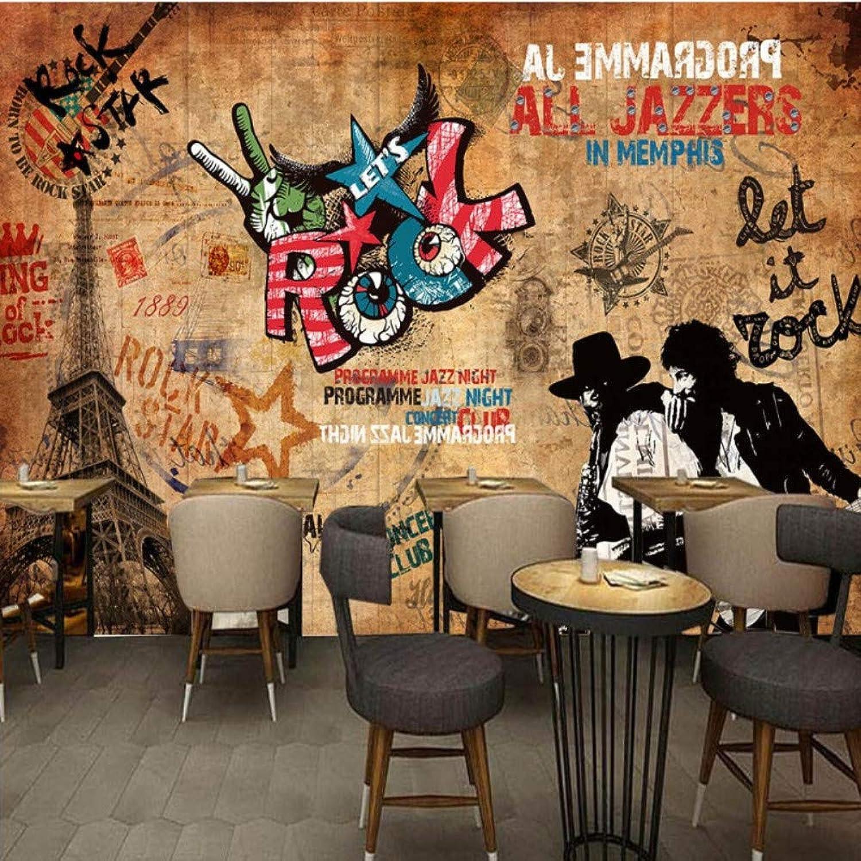 tienda en linea Mbwlkj Papel pintado 3D Europa Americana Barra Barra Barra De Rock Retro Ktv Fondo Papel pintado Tema Restaurante Estudio Corrojoor Mural-200cmx140cm  al precio mas bajo