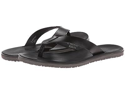 Massimo Matteo Leather Thong Sandal (Black) Men