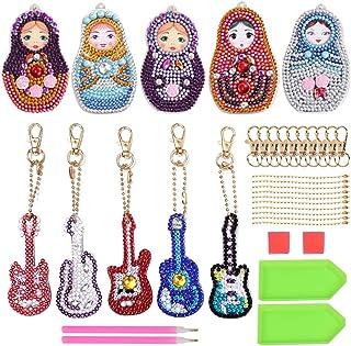 Sponsored Ad – 10 Pcs Diamond Keychain Kit Full Drill Diamond Painting Key Rings for Birthday Gift Arts Craft DIY Handbag ...