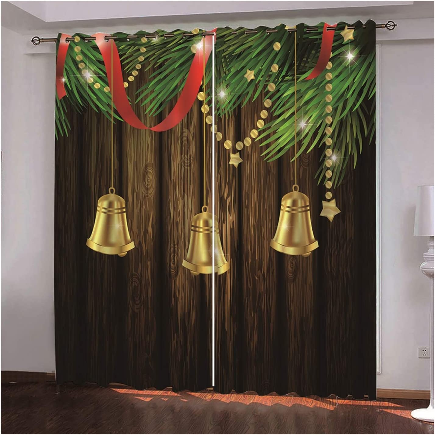 Daesar Christmas Window San Antonio Mall Ranking TOP10 Curtains Curtain for 2 Room Pane Living