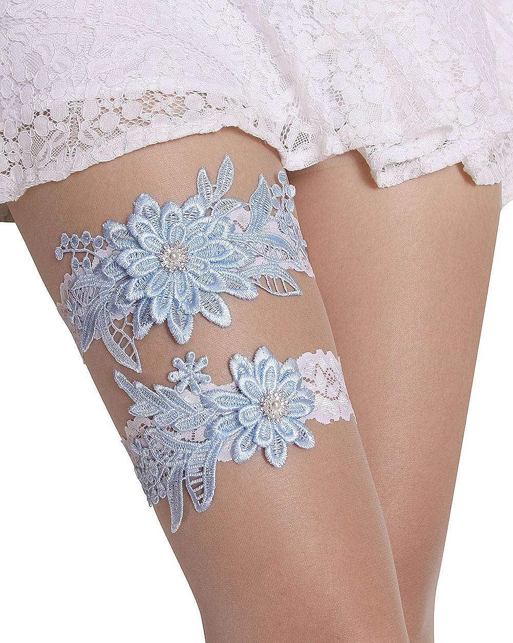 GARGALA Wedding Garters half for Bride Credence Bridal Lace Rh Garter Set with