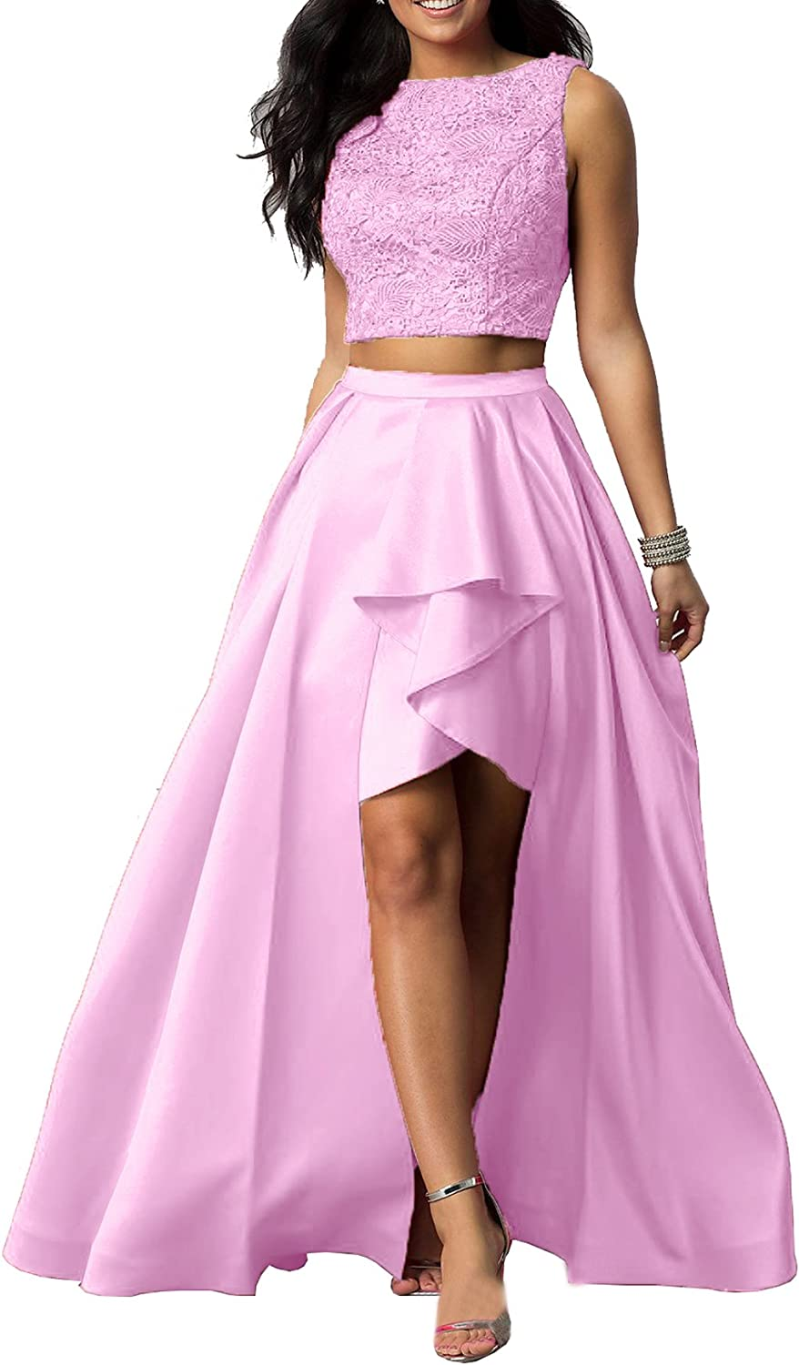 Beauty Bridal Women's 2018 High Low Prom Dress Sleeveless Homecoming Party Dress S062