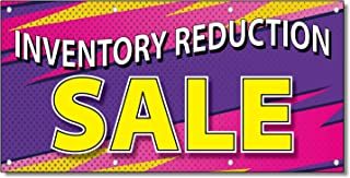 Inventory Reduction Sale Business 13 Oz Vinyl Banner Sign With Grommets 2 Ft X 4 Ft