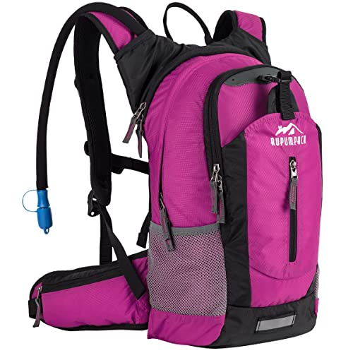 RUPUMPACK Insulated Hydration Backpack Pack with 2.5L BPA Free Bladder, Lightweight Daypack Water Backpack