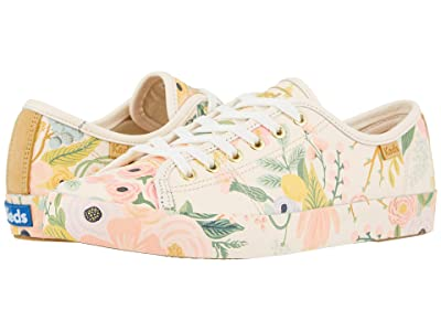 Keds Keds x Rifle Paper Co. Kickstart Garden Party (Pink Printed Leather) Women