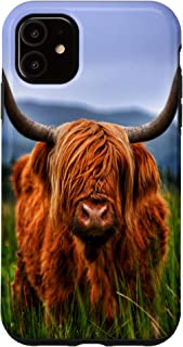 iPhone 11 Scottish Highland Cow Outdoor Nature Animal Lover Case