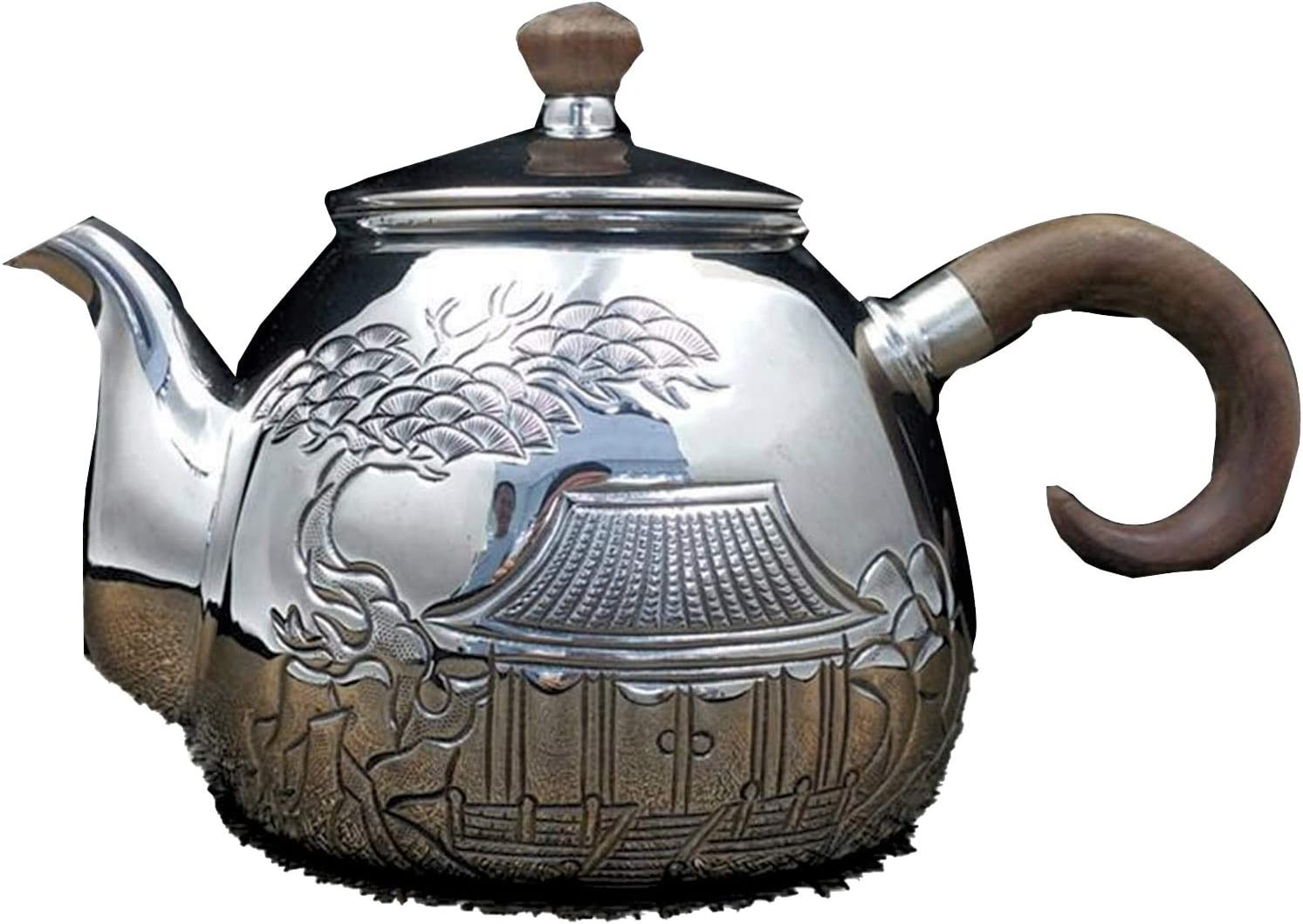 Chinese Max 69% OFF Style Hot Water Tea Home Handmade Ranking TOP12 Set Pot Silver