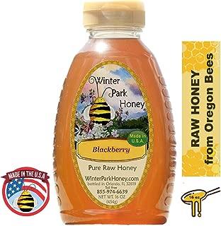 Winter Park Honey - Pure Raw Unfiltered Blackberry Honey (16oz)