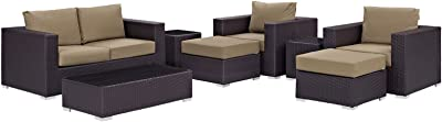 Amazon.com : Great Deal Furniture Karl Outdoor 7 Seater ...