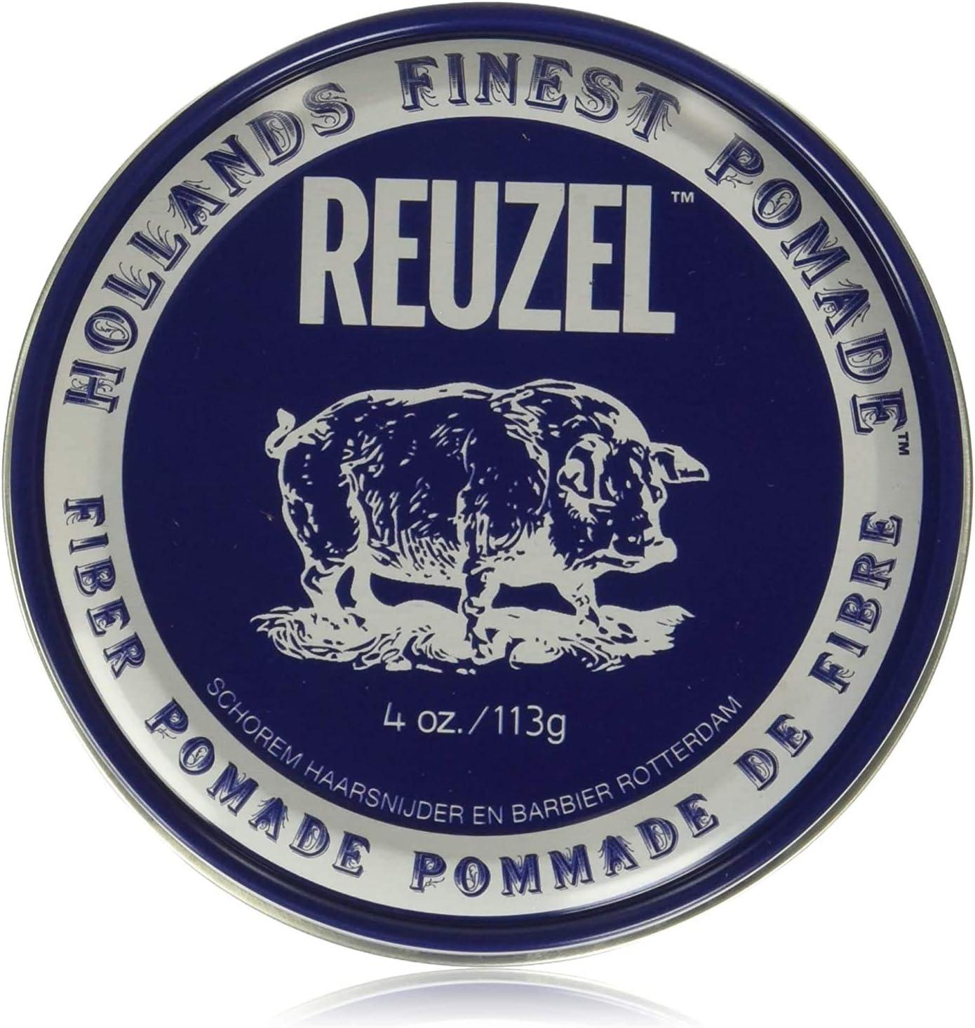 Reuzel - Fiber Pomade - Fijación Firme y Flexible - Poco Brillo - Soluble en Agua - Funciona en Todo Tipo de Cabellos - Controla el Cabello más Rizado Grueso y Rebelde - 4 oz/113 g