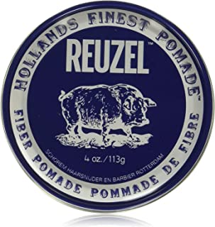 Reuzel - Fiber Pomade - Firm - Pliable Hold - Low Shine - Water Soluble - Works on All Hair Types - Gives a Natural Finish...