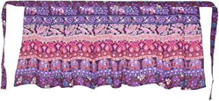 Rajvila Women's Cotton Printed Knee Length Regular Wrap Around Skirt (F_W24NTP_0002-Free; Purple; Free)
