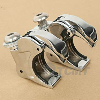 TCMT Chrome 41mm Windshield Screen Clamps Fits For Harley Dyna Super Glide Sportster XL