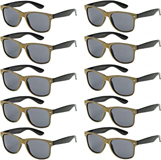 d5448b0ad9f47 WHOLESALE UNISEX 80 S RETRO STYLE BULK LOT PROMOTIONAL SUNGLASSES - 10 PACK
