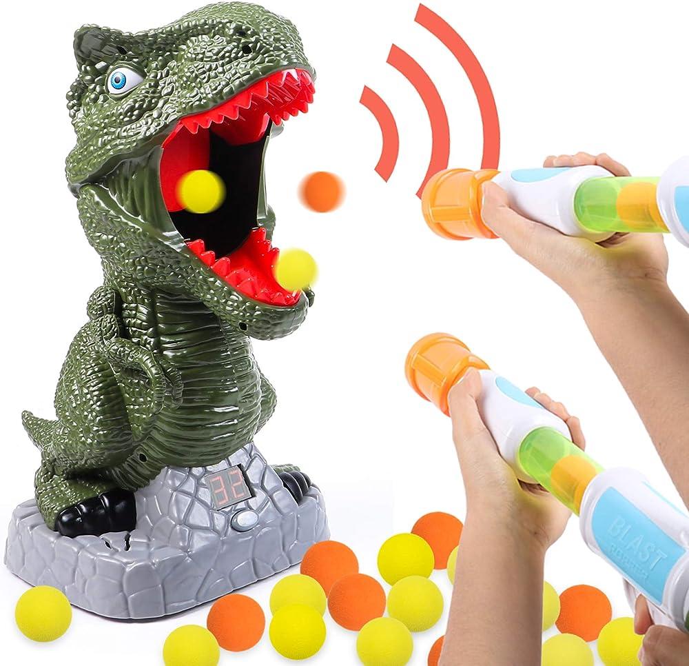 Gioco di tiro al bersaglio di dinosauri ,pistola power popper softball lcd record JYP-Kfx