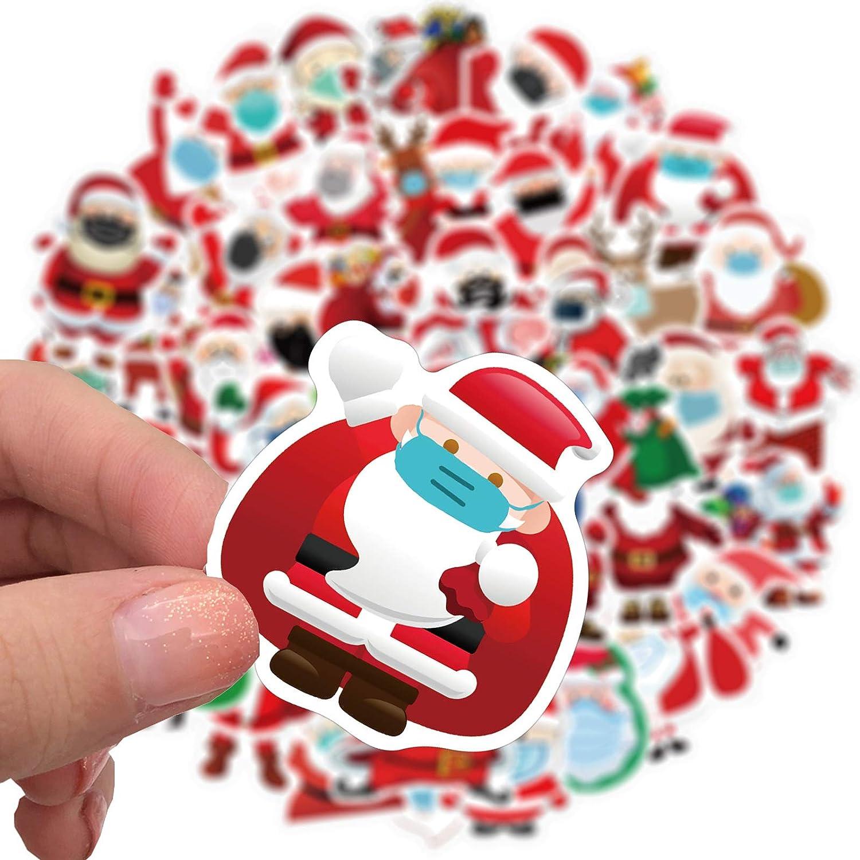 N//J Christmas Personalized Decoration Sticker style1 50Pcs StrickersChristmas Sticker Pack,Waterproof /& No Glue Left