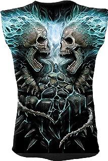 Mens - Flaming Spine - Allover Sleeveless T-Shirt Black