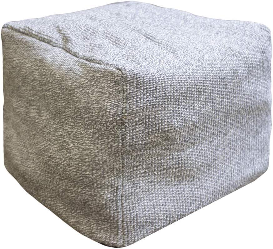 Riarevt Super sale Unstuffed Square Ottoman Pouf Cushi Elegant Footrest Floor Cover