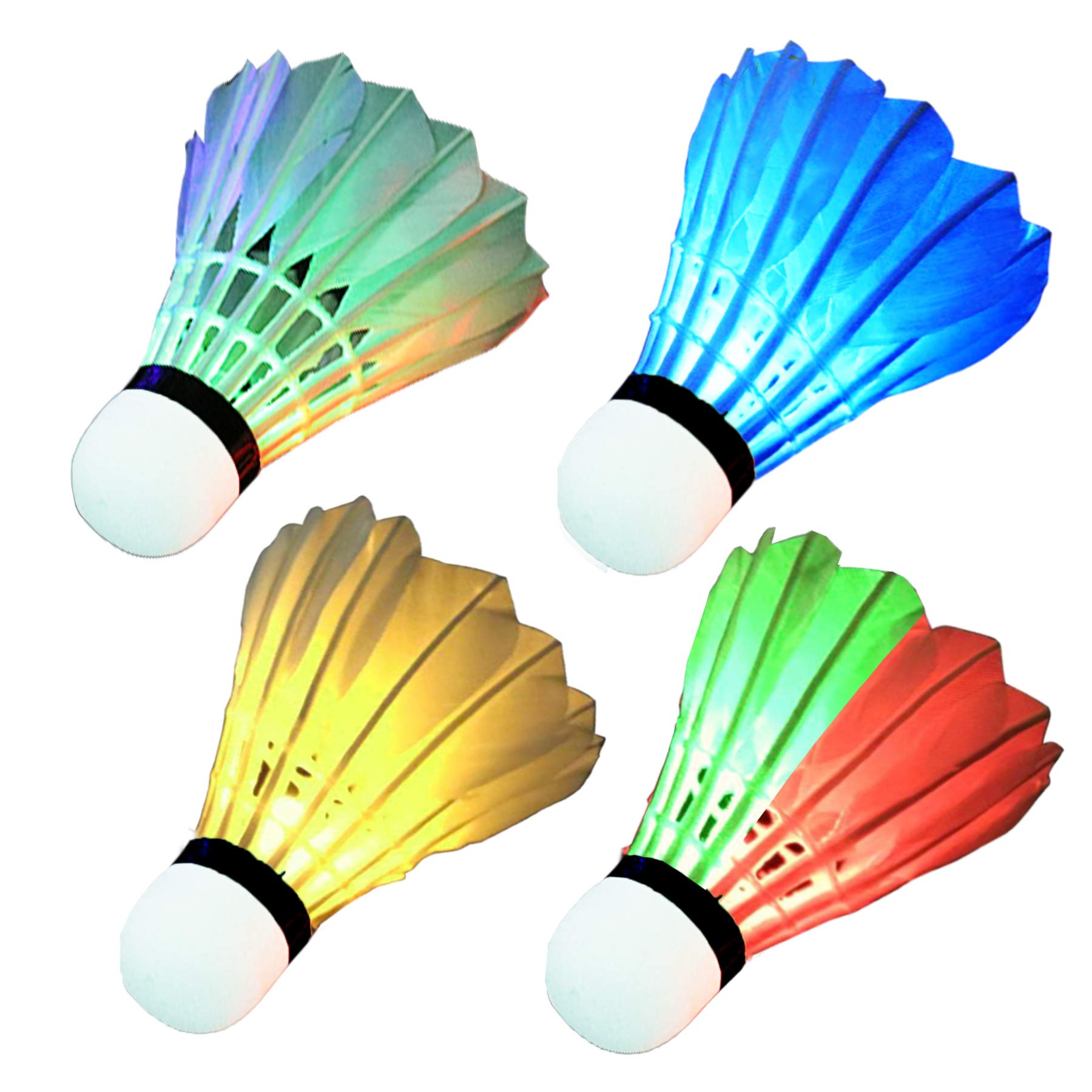 Garneck 12pcs Plastic Shuttlecocks Badminton Shuttlecocks Sport Sports Training Badminton Balls for Indoor Outdoor Game White