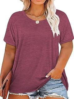 Womens Plus-Size Summer Tops Good Vibes T Shirts XL-4XL