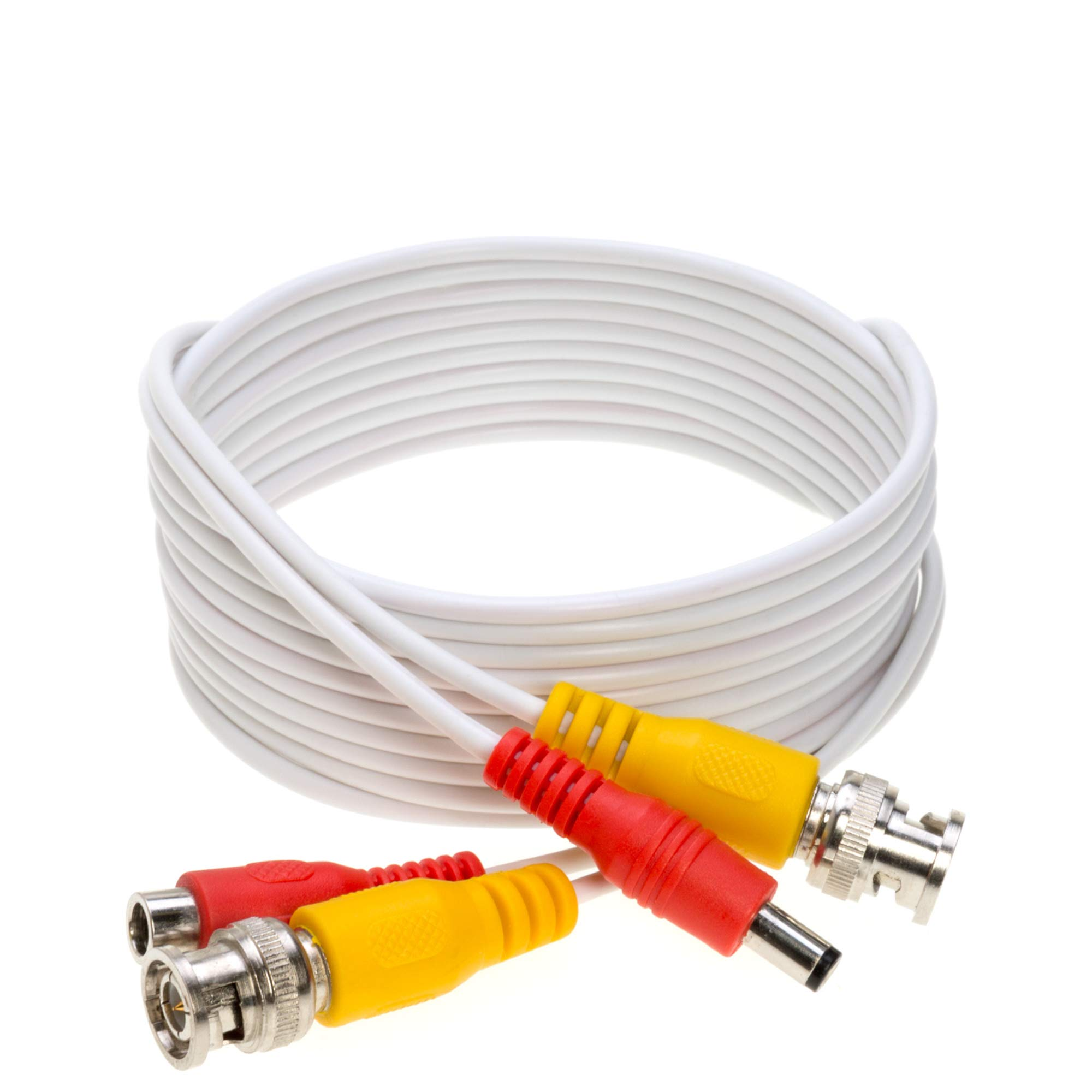 Amazon.com : 20FT White Premade BNC Video Power Cable/Wire for Security  Camera, CCTV, DVR, Surveillance System, Plug & Play (White, 20) : Camera &  PhotoAmazon.com