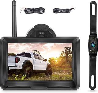 $119 » Sponsored Ad - Wireless Backup Camera HD 1080P Kit, Digital Wireless Rear View Camera 5 Inch Split/Full Monitor System Lic...