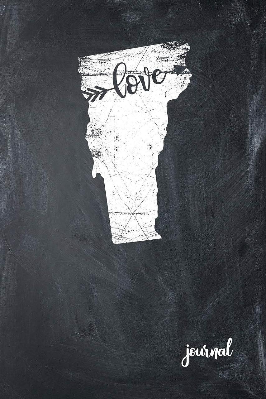 マウスシンボル獣Love Journal: State of Vermont Gypsy Arrow Love Blank Diary 120 Paged College Lined 6x9 RV Travel Journal