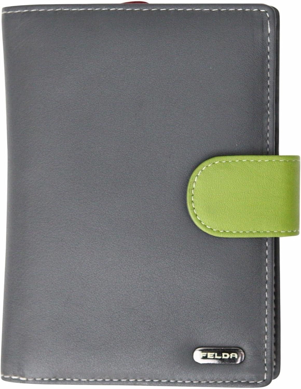 Felda RFID Popular overseas Genuine Leather Ladies Large Slo Wallet Indianapolis Mall 23 Purse Card