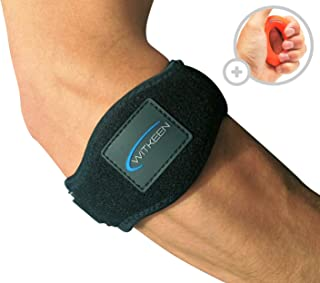 WITKEEN 2-Pack Tennis Elbow Brace with Compression Pad Adjustable Elbow Support for Tendonitis -