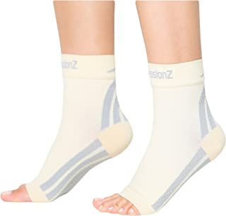 CompressionZ Plantar Fasciitis Socks - Compression Foot Sleeves - Ankle Brace w/Arch Support - Pain Relief for Heel Spurs, Edema, Achilles Tendonitis - Improve Circulation