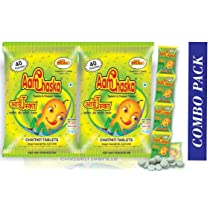 Alkas|Aam Chaska|Chatpati Tablet|Dry Mango Candy|Amchoor Digestive Tablet|Pack of 2|40 Pcs x 2 Packets