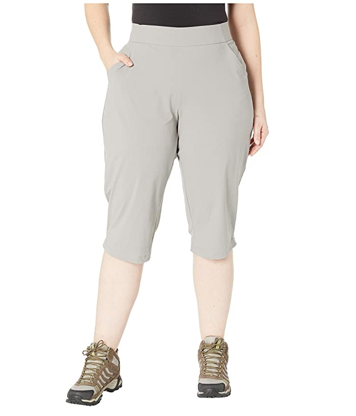 Columbia Plus Size Anytime Casualtm Capris (Light Grey) Women